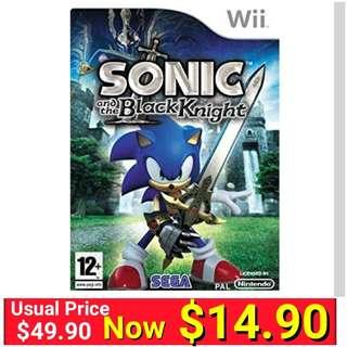Wii Sonic and the Black Knight - Nintendo Wii. (Brand new in box and factory Sealed ) Usual Price :$49.90 special :$ 14.90 + Free mail postage.