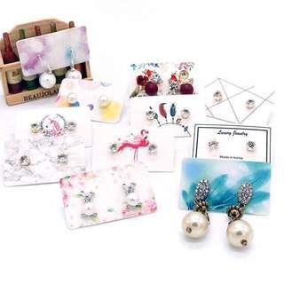 (PO) Printed Graphic Design Earring Card Holder 3*5cm