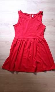 Basic red dress