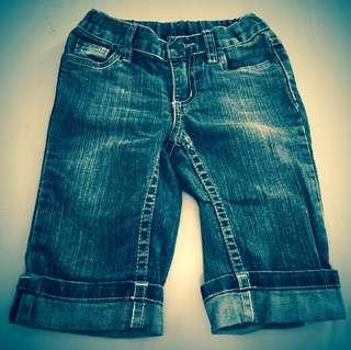 Pumpkin Patch Dark Blue Denim 3/4 Jeans for Girls