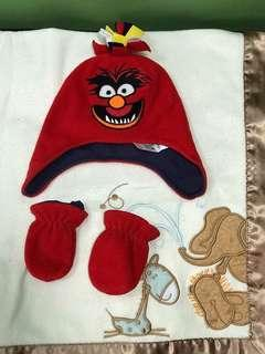 Monster Baby Cap & Mittens