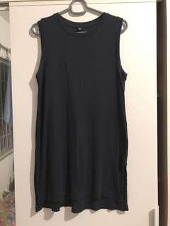 Uniqlo Dark Blue Sleeveless Top
