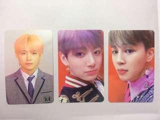 BTS Love Yourself Answer V, Jungkook, Jimin photocard L, E version KPOP