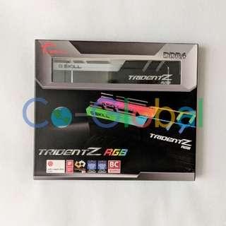 全新有保 Brand New G.SKILL TridentZ RGB 16GB (2 x 8GB) DDR4 SDRAM 3000 RAM