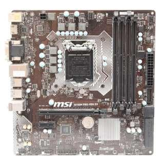 Combo Core i5-6402P + MSI B150M PRO-VDH D3 + Corsair Vengeance DDR3 1600MHz 4GB x 2pcs