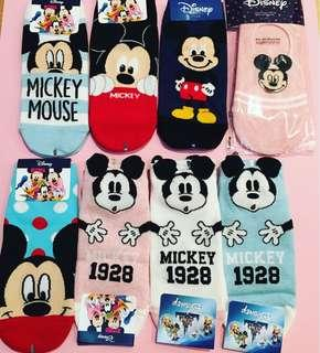 Disney Mickey Ankle Socks size 7-11.5 AUS