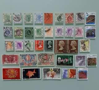 香港郵票 QV, KEVII, KGV, KGVI, QEII 全部共 HKD$70.00