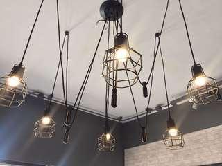 Spider Web Industrial Chandelier