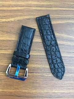 "26mm/26mm Genuine Ebony Black Crocodile 🐊Alligator Watch Strap for Panerai Watch 🌟""mini round scale"" authentic grains - full of character 👍🏻👍🏻"