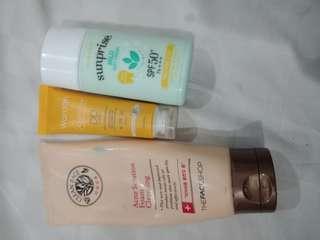 ALL IN ONE! The Face Shop Acne Solution Foam, Wardah DD Cream, Etude Sunprise Mild Airy Finish