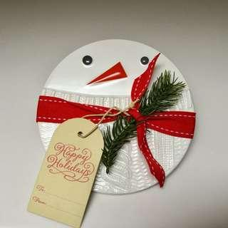Ceramic Snowman Coaster - Brand New With Tag