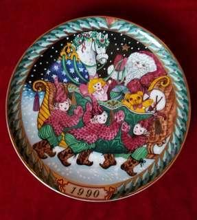 Vintage Santa Claus Plate 1990