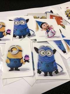 Total of 19 Minion Ezlink & stickers