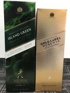 Johnnie Walker Green Label / Gold Label