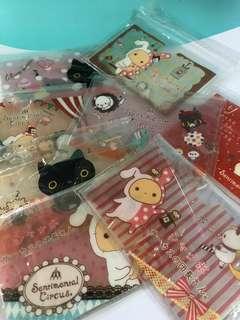 8pcs of SAN-x plastic card holders