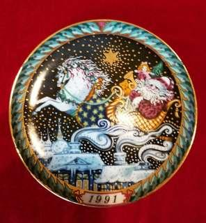 Vintage Santa Claus Plate 1991