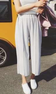 structured basic culottes flowy pants