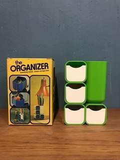 Vintage 1975 storage organizer retro green apple NOS