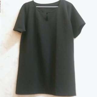 近全新 黑色 正式 洋裝 短洋 短袖 歐美