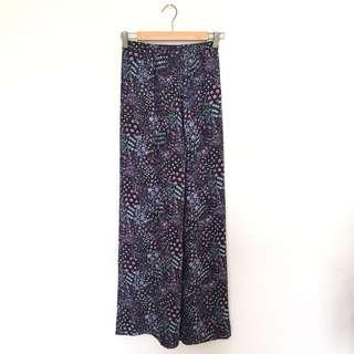 Floral Printed Wide Pants #SBUX50