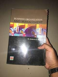 Business Organization and Management Book by Roberto Medina