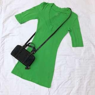 Green dress v neck