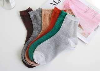 Bling Bling Glitter Mesh Socks