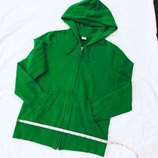 Green parka jacket hoodie