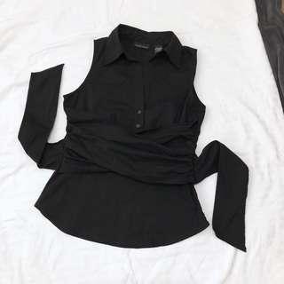 New york company black office blouse