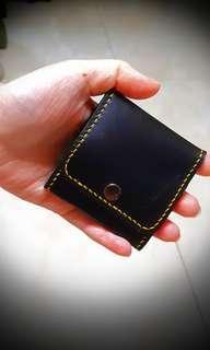 🚚 【純手工牛皮】黑色時尚零錢包
