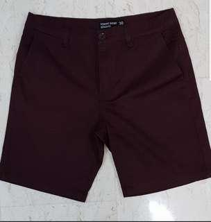 Cotton On Maroon Chino Shorts