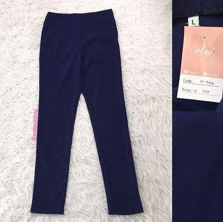 VL7254 Korean HW navy zip pants