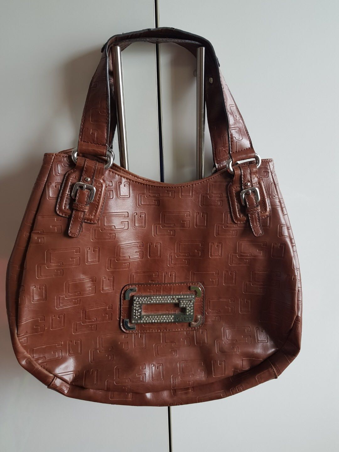 Authentic - Guess brown leather bag (FREE Shipping within Metro ... aeebf29fc2b6e