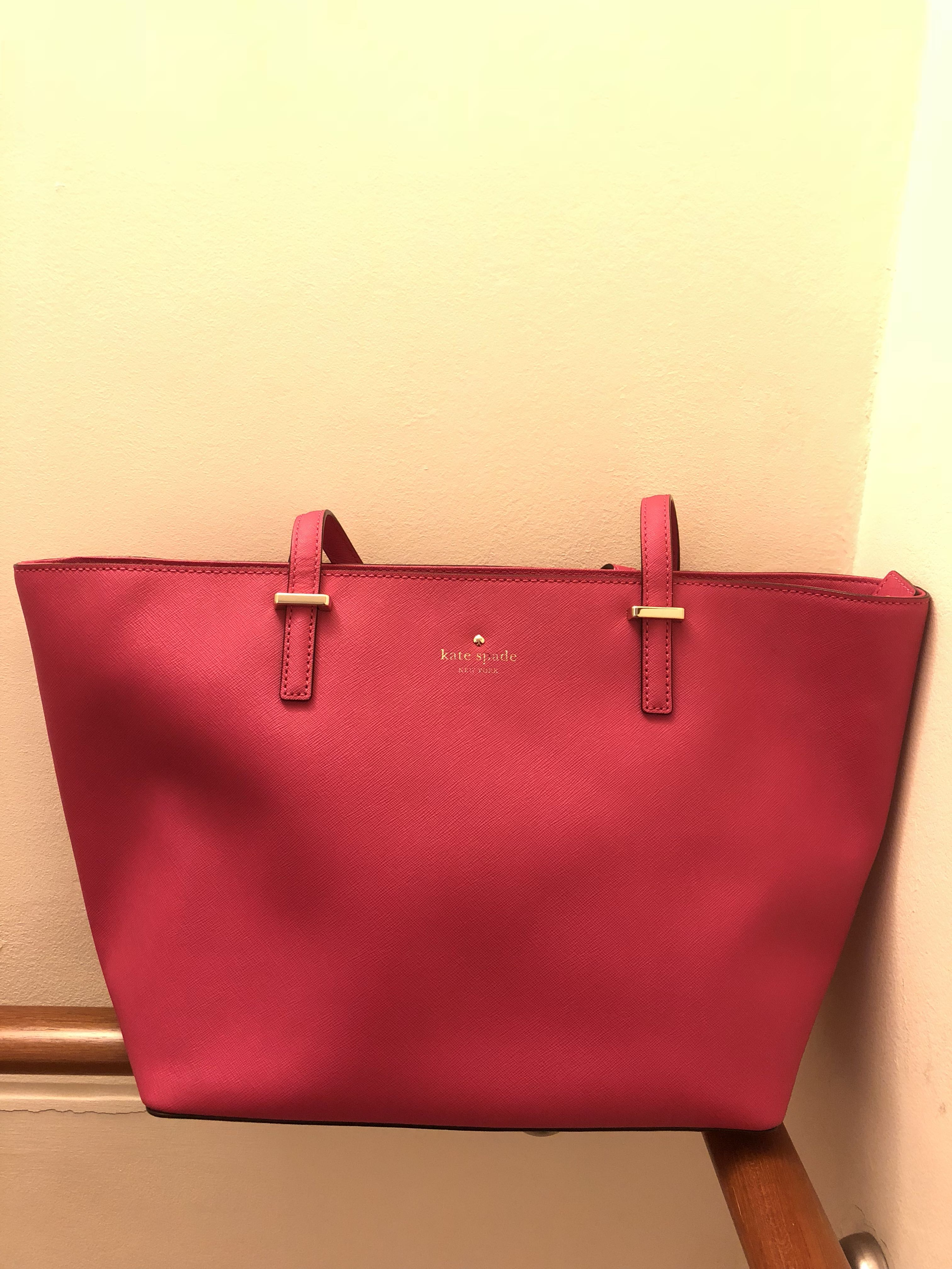 f2f251c43 authentic kate spade pink tote bag, Women's Fashion, Bags & Wallets,  Handbags on Carousell