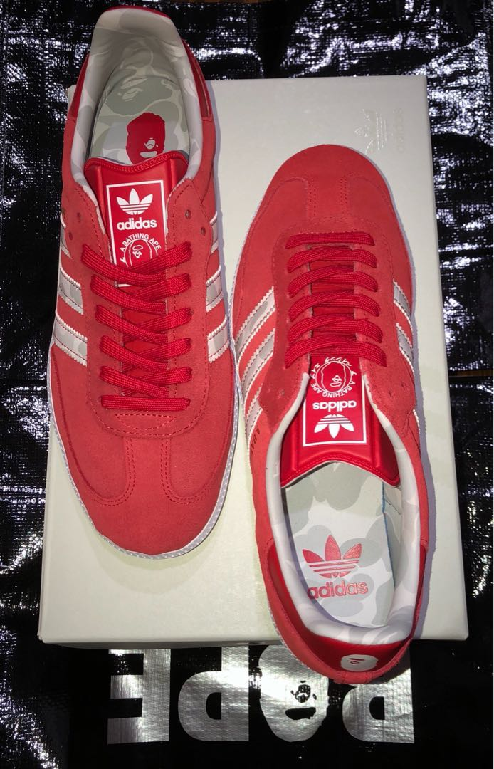wholesale dealer 8775a d5d82 Bape Adidas samba shoes new from japan bathing ape, Mens Fashion,  Footwear, Sneakers on Carousell