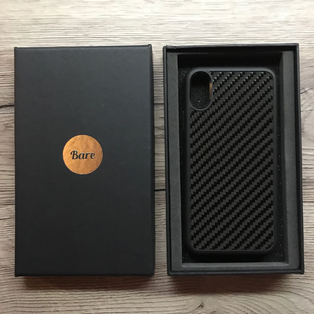 brand new c8a70 50bd2 Bare Carbon Fiber Case for iPhone X