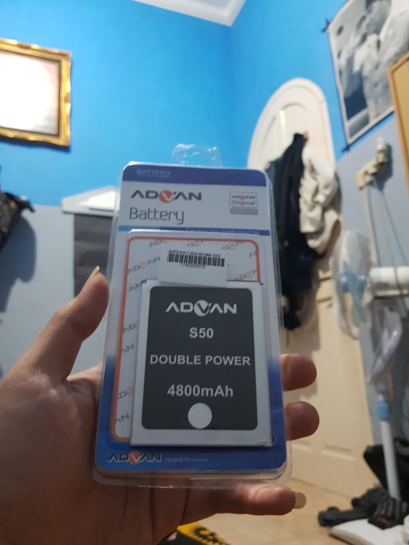 Baterai Advan S50 original Dobel power, Mobile Phones & Tablets, Mobile & Tablet Accessories