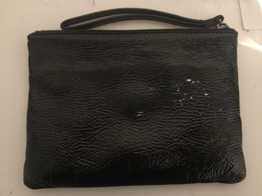 black medium mimco pouch