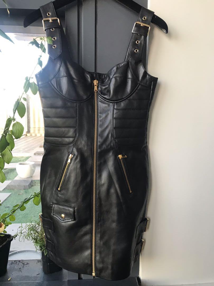 BNWT MOSCHINO H&M LEATHER DRESS SIZE SMALL SOLD OUT LIMITED EDITION GIGI HADID