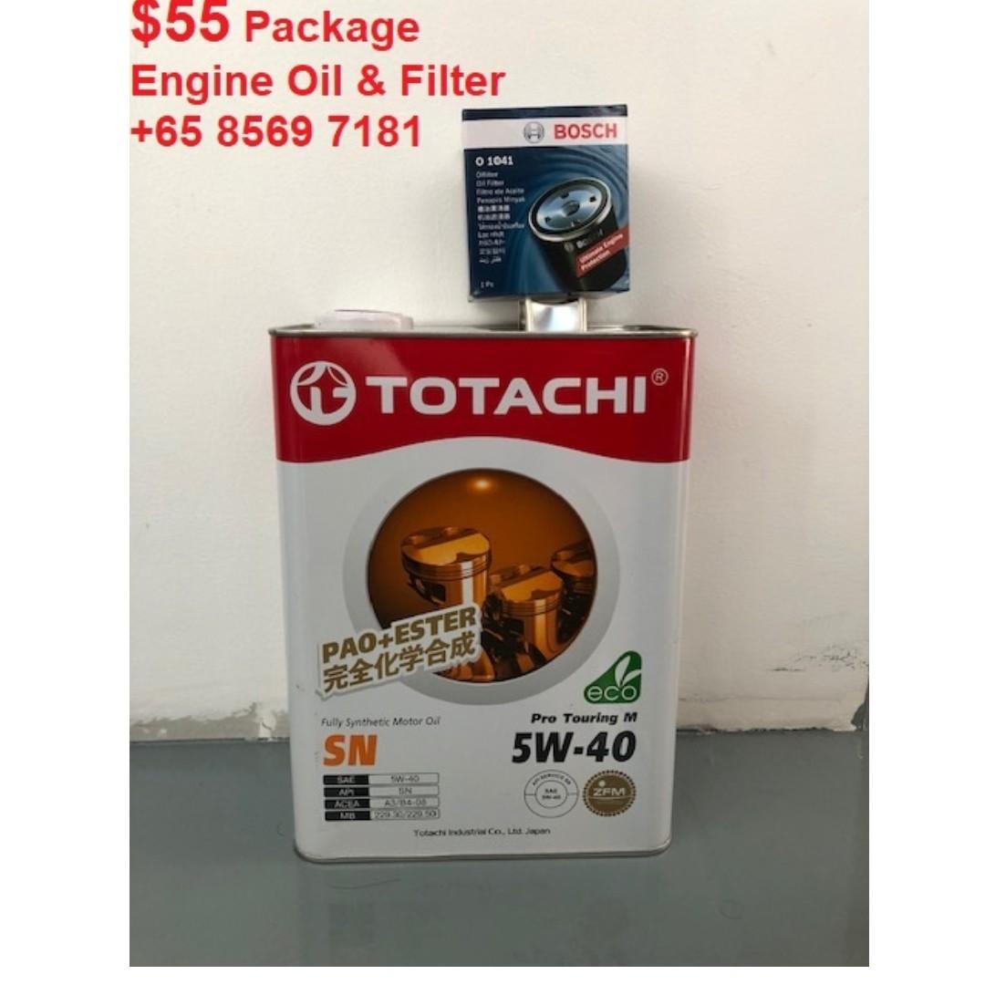 Car Servicing (Shell Helix Ultra / Totachi) (5w-40/5w-30/0w-20)