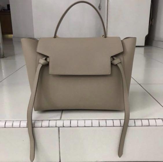 Celine mini belt bag in grained calfskin - light taupe 474e3f24eb7ae