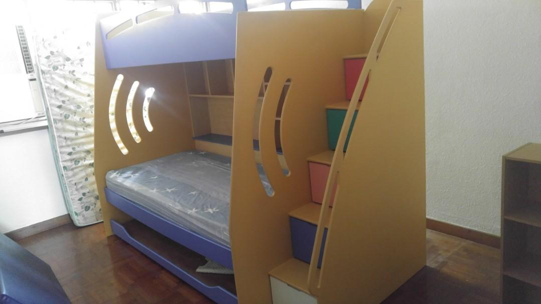Picture of: Children Double Bed For Sales Furniture Beds Mattresses On Carousell