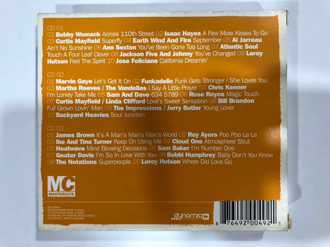 Classic 70's Soul Cuts - MC Mastercuts Music CD Album (3-Disc)