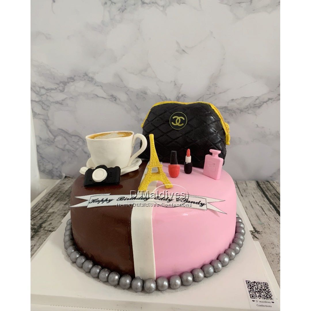 Coffee Make Up Customized Cake Food Drinks Baked Goods On
