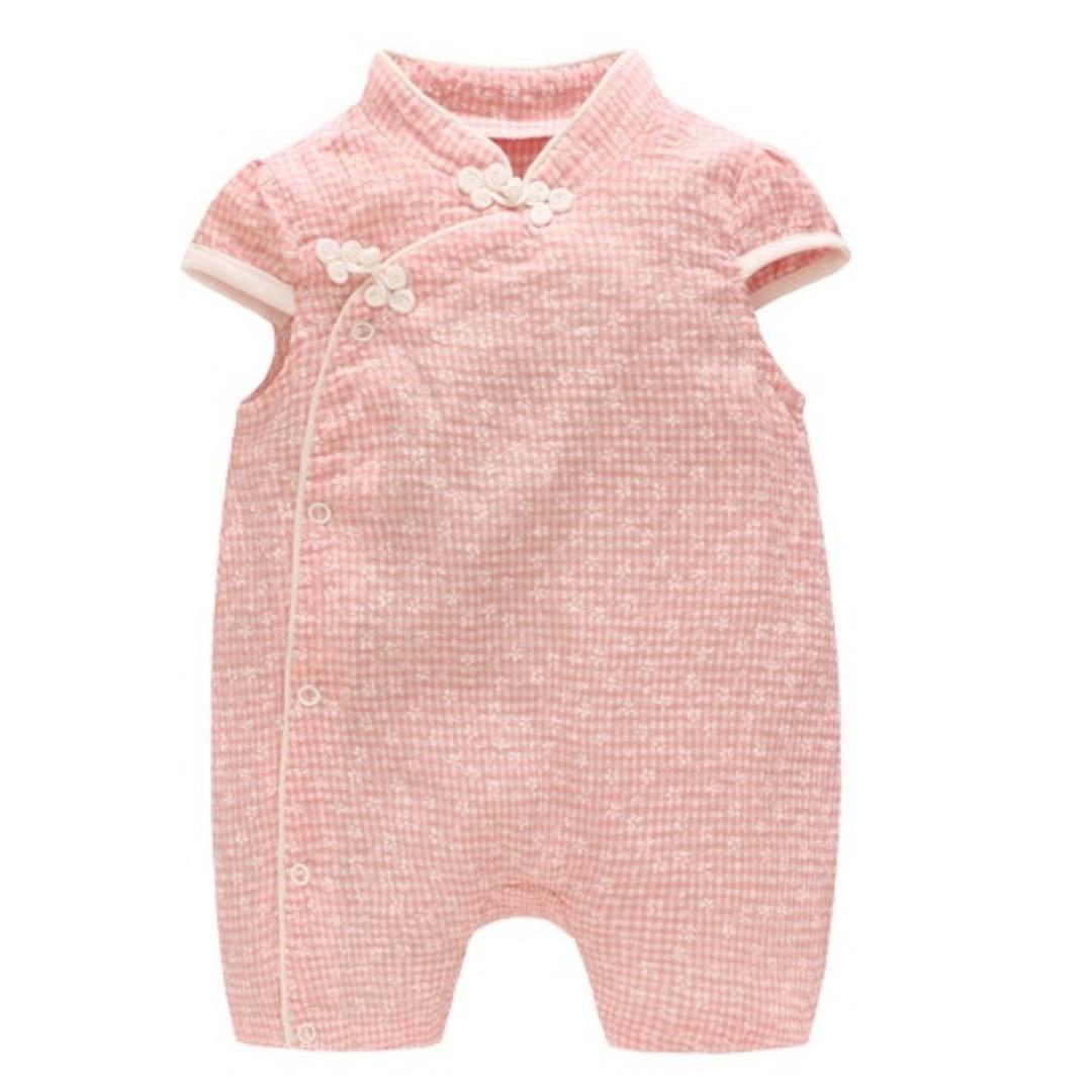 8cf581597 CSR023 New Baby Girl Pink Gingham Cheongsam Qipao Romper, Babies ...
