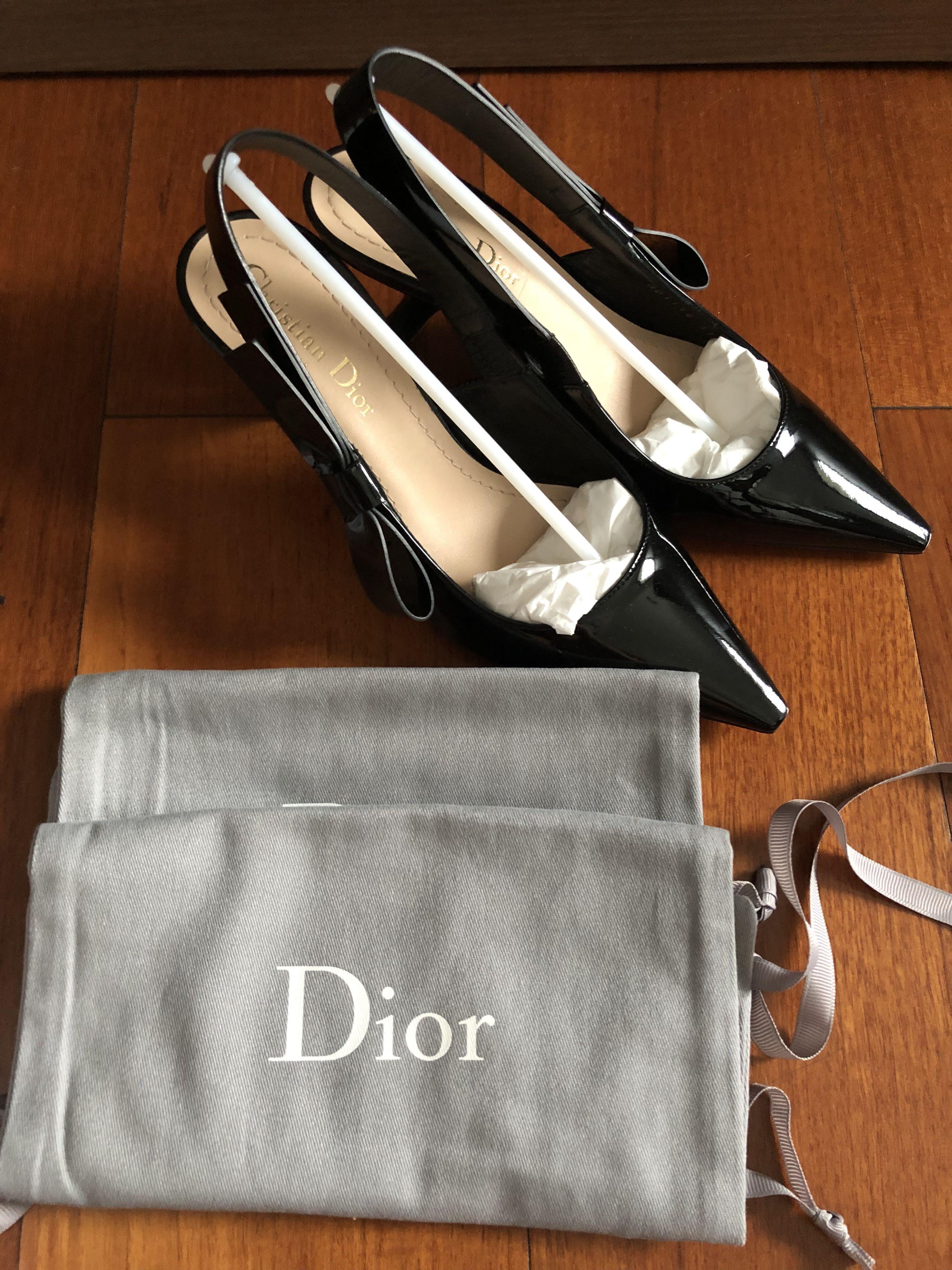 Dior J'Adior Black Patent Slingback