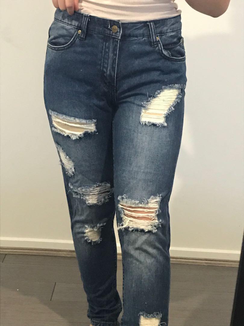 dotti ripped jeans
