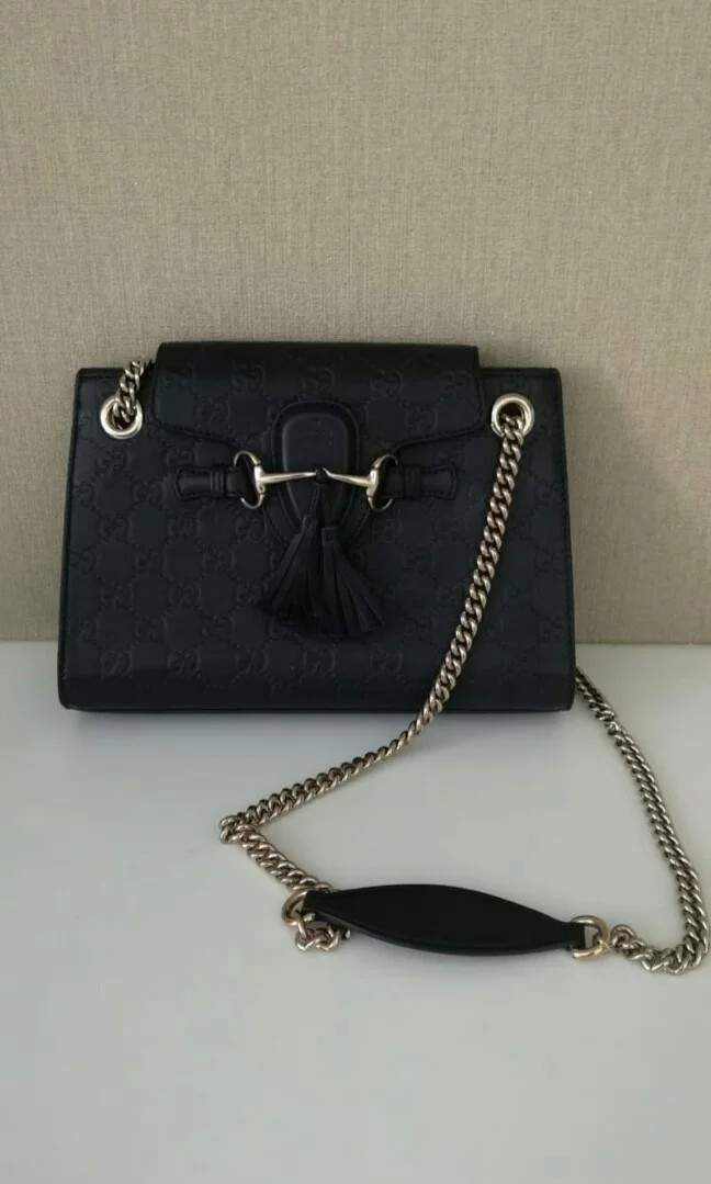 939566ed3e0b Emily Guccissima Leather Chain Shoulder Bag
