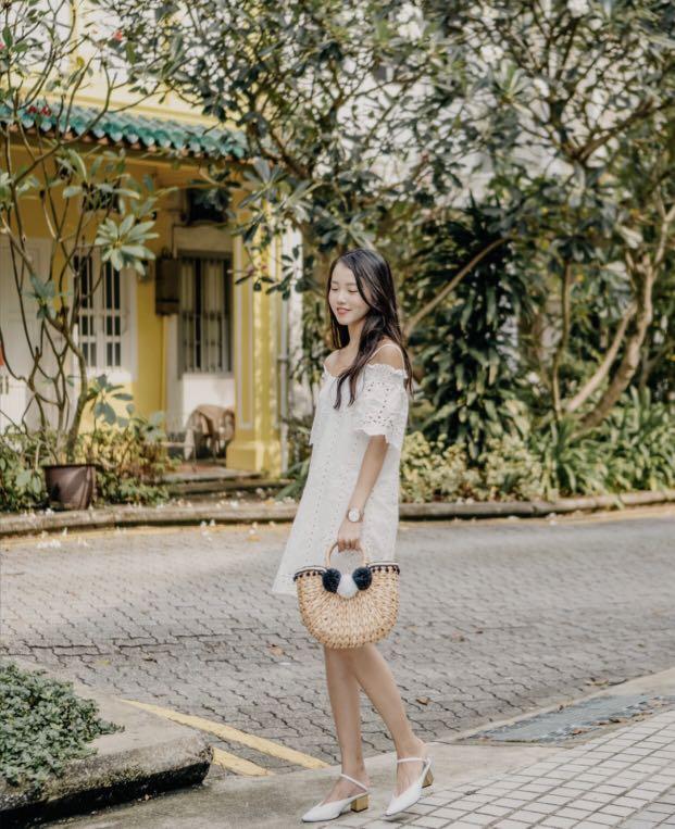 d20af06a Eyelet Dress White Crochet LbrLabel, Women's Fashion, Clothes ...