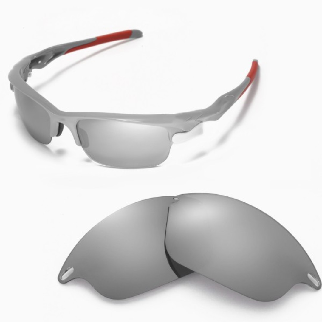 a10e3b2e32 Fast Jacket Titanium POLARIZED Walleva Replacement Lenses for Oakley ...